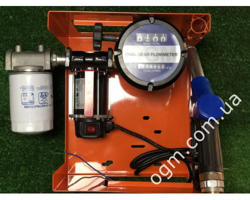 Мини АЗС 12V  для перекачки дизеля со счетчиком OGM 25 N - Колонки для ДТ 12/24В