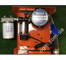 Мини АЗС 12V для перекачки дизеля со счетчиком OGM 25 N